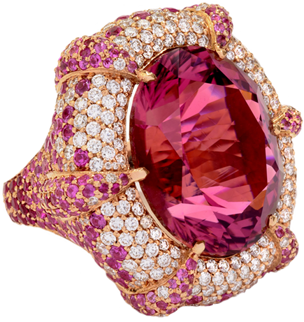 Belle Ame: Pink Tourmaline Ring by Melànie D.